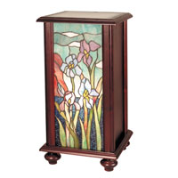 Dale Tiffany Iris Tiffany Pedestal 1 Light in Cherry TA101346