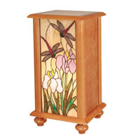 Dragonfly 12 X 12 inch Oak Pedestal Home Decor