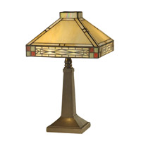 Dale Tiffany TA10490 Tiffany 14 inch 60 watt Antique Brass Accent Lamp Portable Light photo thumbnail