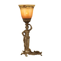 Dale Tiffany Lady Accent Lamp 1 Light in Antique Brass Plating TA10516