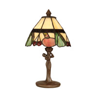 Dale Tiffany Tiffany Fruit Accent Lamp 1 Light in Antique Bronze Paint TA10605