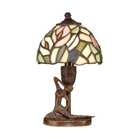 Lady 10 inch 40 watt Antique Bronze Paint Accent Lamp Portable Light