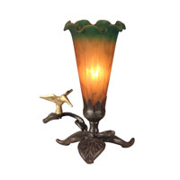 Dale Tiffany Tiffany Lily Accent Lamp 1 Light in Antique Bronze Paint TA10804 photo thumbnail