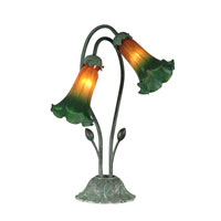 Dale Tiffany Auratum 2 Light Table Lamp in Antique Verde TA10808