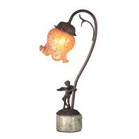 Dale Tiffany Cherub Base Accent Lamp 1 Light in Antique Bronze Paint TA10839