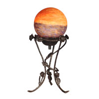 Dale Tiffany Rose With Globe Accent Lamp 1 Light in Antique Bronze Plating TA10898 photo thumbnail