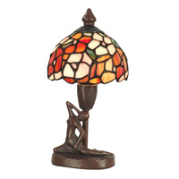 Dale Tiffany Mini Dogwood Table Lamp 1 Light in Antique Bronze Paint TA11014