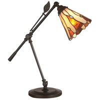 Leaf Desk 19 inch 60 watt Dark Antique Bronze Accent Lamp Portable Light
