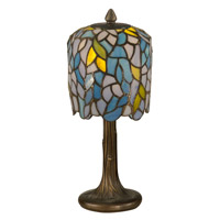 Dale Tiffany Wisteria Tiffany Mini Lamp 1 Light in Dark Antique Bronze TA11200