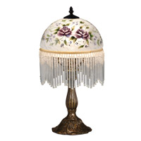 Dale Tiffany Rose 1 Light Table Lamp in Antique Brass TA15001