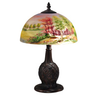 Signature 15 inch 60 watt Antique Golden Bronze Table Lamp Portable Light