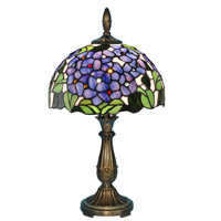Verbena 20 inch 60 watt Antique Brass Table Lamp Portable Light
