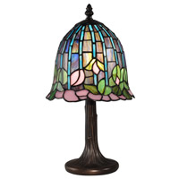 Dale Tiffany TA15056 Lotus 15 inch 60 watt Antique Bronze Table Lamp Portable Light