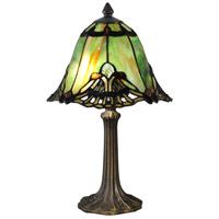 Dale Tiffany TA15057 Evelyn 16 inch 60.00 watt Antique Brass Table Lamp Portable Light photo thumbnail