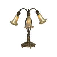 Dale Tiffany TA15130 Lily 15 inch 25 watt Antique Bronze/Verde Table Lamp Portable Light