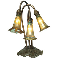 Lily 14 inch 25 watt Antique Bronze/Verde Table Lamp Portable Light