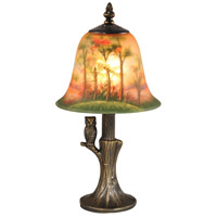 Signature 14 inch 60 watt Antique Brass Table Lamp Portable Light