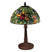 Pansy 16 inch 40 watt Antique Bronze Table Lamp Portable Light