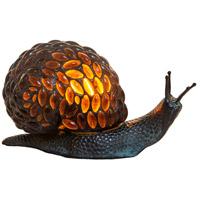 Dale Tiffany TA15174 Jewel Snail 6 inch 25 watt Antique Bronze Accent Lamp Portable Light