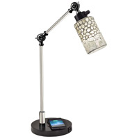Alps 22 inch 60 watt Black Desk Lamp Portable Light, Wireless/USB Charger