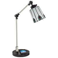 Dale Tiffany TA18218WU Penfold 22 inch 60 watt Black Desk Lamp Portable Light, Wireless/USB Charger