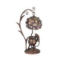 Dale Tiffany Maximilian 1 Light Accent Lamp in Antique Brown TA60467