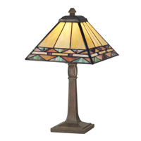 Dale Tiffany Slayter Accent Lamp 1 Light in Antique Brass TA70678