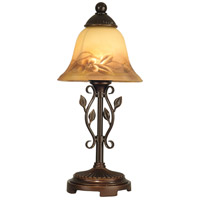 Dale Tiffany Leaf Vine Handpainted Mini Lamp 1 Light in Antique Golden Sand TA80540