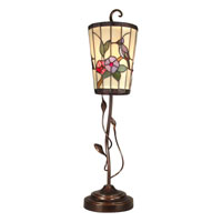 Dale Tiffany Humming Bird Tiffany Accent Lamp 1 Light in Antique Golden Sand TA90014
