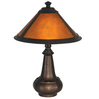 Dale Tiffany Hunter Mica Accent Lamp 1 Light in Antique Bronze TA90191 photo thumbnail