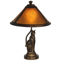 Dale Tiffany Ginger Mica Accent Lamp 1 Light in Antique Bronze TA90197