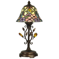 Dale Tiffany Crystal Peony Accent Lamp 1 Light in Antique Golden Sand TA90215