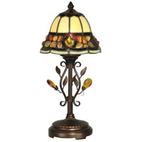Dale Tiffany Pebblestone Accent Lamp 1 Light in Antique Golden Sand TA90228
