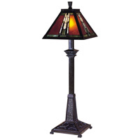 Dale Tiffany TB100715 Amber Monarch 30 inch 60 watt Mica Bronze Accent Lamp Portable Light photo thumbnail