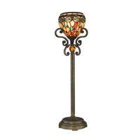 Dragonfly 29 inch 60 watt Antique Golden Sand Buffet Lamp Portable Light