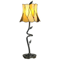 Twisted Leaf Tiffany 26 inch 60 watt Antique Bronze Paint Buffet Lamp Portable Light