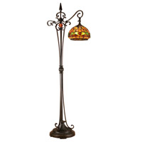 Dale Tiffany Briar 1 Light Floor Lamp in Antique Golden Sand TF13065