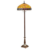 Dale Tiffany Turtleback 2 Light Floor Lamp in Antique Bronze TF15118