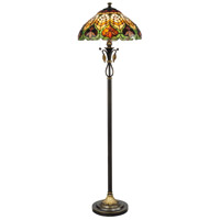 Dale Tiffany Sir Henry 2 Light Floor Lamp in Antique Brass TF50012