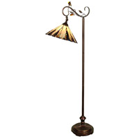 Dale Tiffany TF90263 Ripley 60 inch 100 watt Antique Golden Sand Floor Lamp Portable Light
