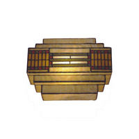 Dale Tiffany Cube Mission Wall Sconce 1 Light in Antique Bronze Plating TH100082