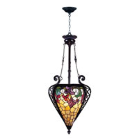 Dale Tiffany Jacqueline Foyer Fixture 3 Light in Mica Bronze TH100578 photo thumbnail