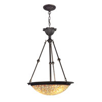 Dale Tiffany Cassidy Mosaic Hanging Fixture 3 Light in Fieldstone TH100605