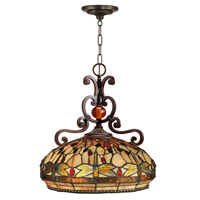 Dragonfly 2 Light 18 inch Antique Golden Sand Pendant Ceiling Light