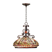 Dale Tiffany TH101034 Boehme 3 Light 18 inch Antique Golden Sand Pendant Ceiling Light photo thumbnail