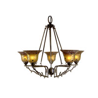 Dale Tiffany Tamar 5 Light Chandelier in Mica Bronze TH101050