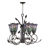 Dale Tiffany Meadowbrook 5 Light Hanging Fixture in Antique Bronze TH101051 photo thumbnail