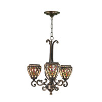 Dale Tiffany Boehme Tiffany Fixture 3 Light in Antique Golden Sand TH101132 photo thumbnail