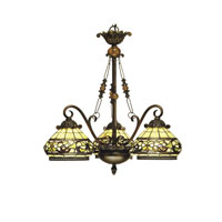 Dale Tiffany Lewellen 3 Light Hanging Fixture in Antique Bronze/Sand TH101135