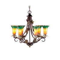 Dale Tiffany Lily 6 Light Chandelier in Antique Bronze TH101144 photo thumbnail